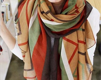 Women's Long Printed Wrap