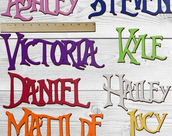 NIGHTMARE BEFORE CHRISTMAS Personalized Wooden Name Sign Custom Plaque Words / Letters Wall Decor / Door / Laser Cut Wood Letters / Font