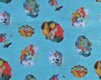 The Little Mermaid, Ariel, Valance, Window Valance, Window Curtain, Window Treatment, New, Handmade, Children, Kids