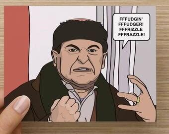 Home Alone - Harry - Joe Pesci Funny Greeting card - Birthday - Funny - Pop culture - Movies - Classic - Handmade