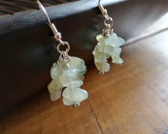New Jade crystal earrings
