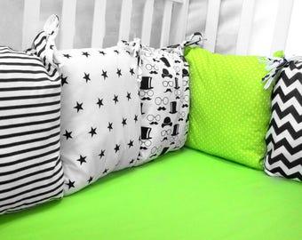 SCANDINAVIAN GREEN baby bedding, crib bedding, baby bedding boy, baby bedding girl, crib bumper, pillow bumper, crib sheet, bumper