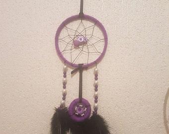 purple and black dreamcatcher