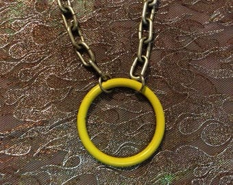 Yellow O Ring Necklace