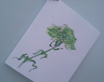 ST PATRICK CARD -Green carnation
