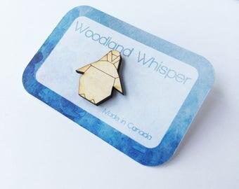 Penguin Brooch, Penguin Pin, Animal Jewellery, Brooch Pin, Silver Brooch, Penguin, Wedding party gift