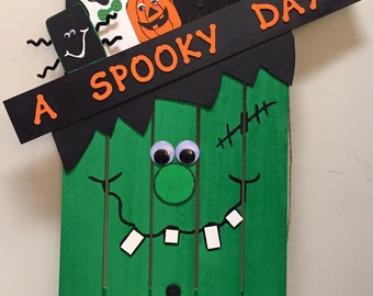 Halloween Frankenstein Pallet Decoration
