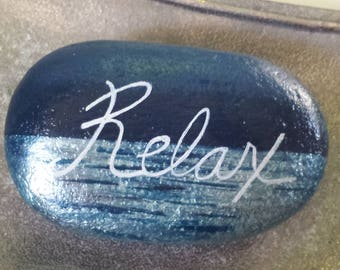 Hand Painted Stone,Painted Stone,Painted Beach Stone,Inspirational Stone,Inspirational Painted Stone,Spa Stone,Gift Idea,Paper Weight,