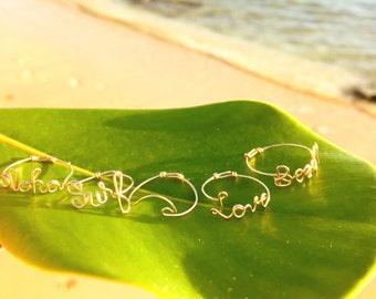 Lani Hawaii Jewelry letter ring 14 k gold fill