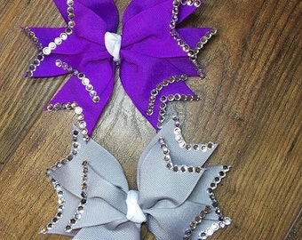 Spiked diamante hairbows