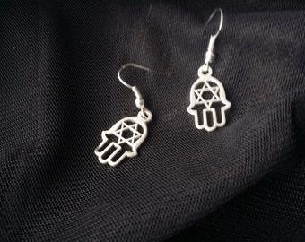 Hamsa Hand Star Earrings - Hand of Fatima