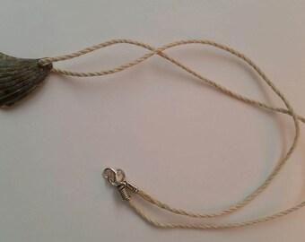 Broken sea shell necklace