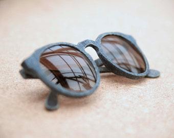 Kepler - Handmade Solid Denim Sunglasses - Recycled Jeans - Polarized