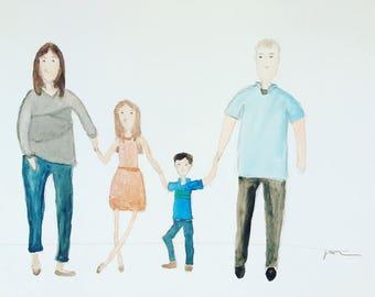 Custom Family Watercolor Portraits