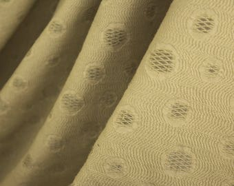 Semi Opaque Heavy Circle Fabric