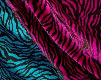 Tiger Print Pattern Velour