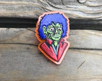 FKN RAD Limited Edition Lapel Pin Back Acrylic Michael Jackson Thriller