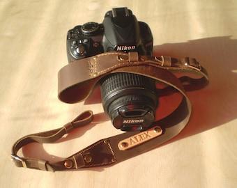 Personalized Camera strap leather Camera strap monogram Camera strap DSLR camera strap Brown camera strap