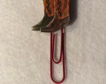 Cowboy boots planner clip