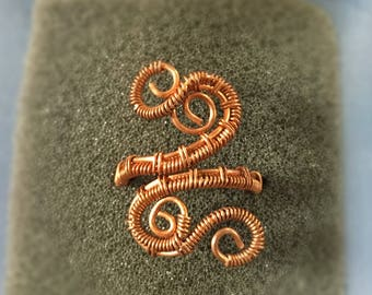 Adjustable Swirly Wire Wrapped Ring, Wire Wrapped Ring, Wire Wrapped Jewelry, Copper Ring, Statement Ring, Adjustable Ring, Swirly Ring