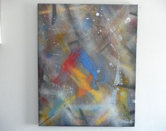 Modern Contemporary Original Spray Paint Canvas Wall Art