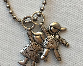 Little Boy Silver Pendant Charms