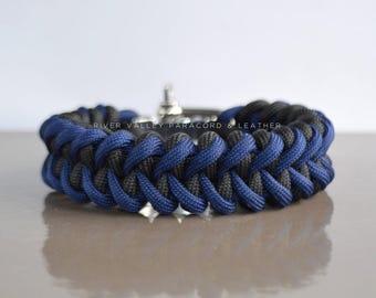 Custom Color Shark Jawbone Paracord Bracelet with Adjustable Stainless Steel Shackle
