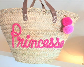 Basket, bag, personalized knitted bag. 100% handmade.