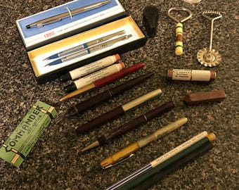 Assorted Vintage Advertising Pens