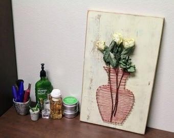 Flower Vase String Art