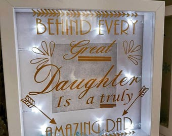 Fathers day light up frame