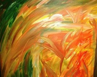 Sunset Flower by Sabiha Mansoor