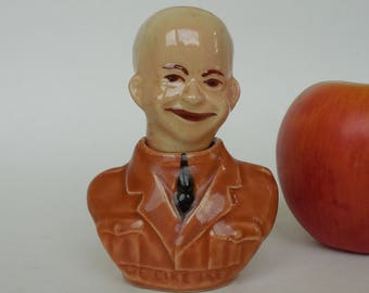 WE LIKE IKE Salt and Pepper, President Eisenhower as General Eisenhower 1950's Souvenir of Old Orchard Beach Maine