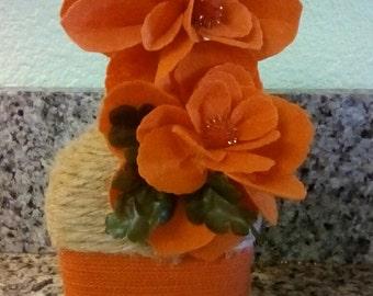 Bright orange floral decoration