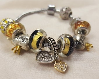 Elegant Bracelet with Charms
