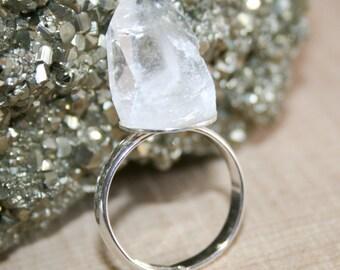 Quartz Crystal Ring Size 8
