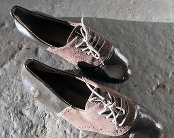 Vintage Fred Perry Womens Lace Up Flats Size 8.5