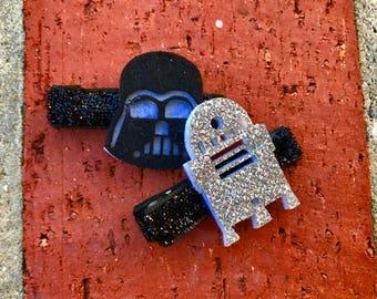 Star Wars R2D2, DARTH VADER Hair Clip