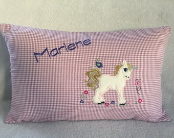 Unicorn pillow with name