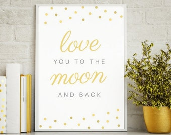 Love You to the Moon and Back - Wall Decor