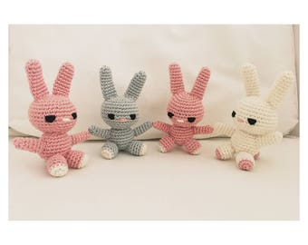 Crochet Bunny in different colors