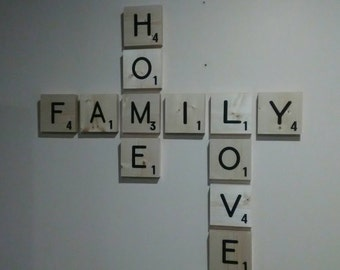 Large Wood Scrabble Wall tiles