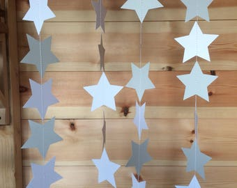 Grey and White Star Garland, Decor, Party Decor, Weddings, Baby Showers,