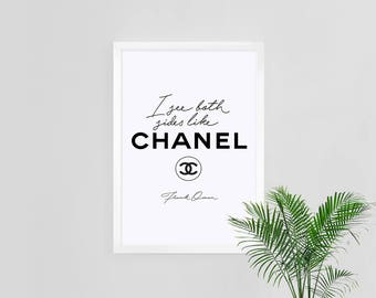 I See Both Sides Like Chanel, 5x7 Printable Wall Art, Home Studio Room Decor, Frank Ocean Blonde Poster, Coco CC Inspired Fashion Poster