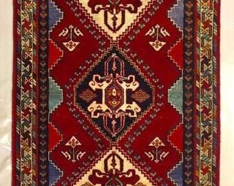 Shiraz hand made persian carpet, 166 X 85 cm