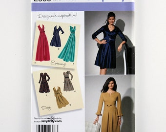 Simplicity Pattern 2338 Misses'/Women's Dress, Sleeve Variations, Sizes 10, 12, 14, 16, 18 Uncut, Day Dress Pattern, Evening Dress Pattern