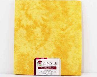 Fat Quarter Fabric, Yellow Texture, 100% Cotton Fabric, One Fat Quarter, 18in x 22in, Quilting Sewing Fabric, Quilt Pieces, Fabric Editions
