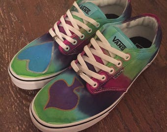 Custom Tie-Dye Vans - Card Suits - Men's 10/Women's 12