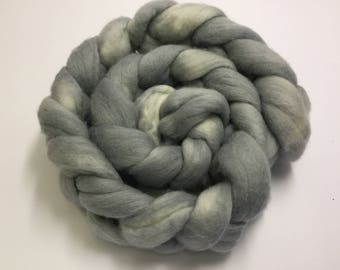 merino roving 18 micron 100g- hand dyed for spinning or felting - in my Little grey cells colourway