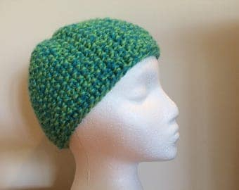 Women's Knobby Blue-Green Hat